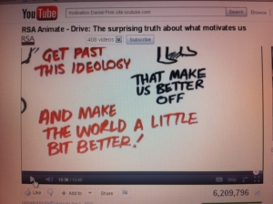 White-board animation of Daniel Pink talk